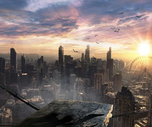 city, wallpaper, and insurgent image