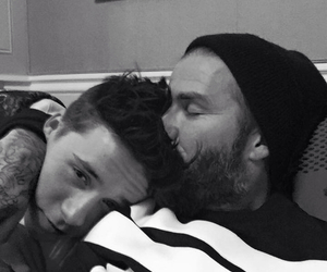 David Beckham, brooklyn beckham, and son image