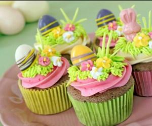 cupcake, chocolate, and easter image