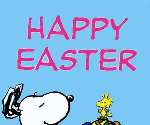 easter and snoopy image