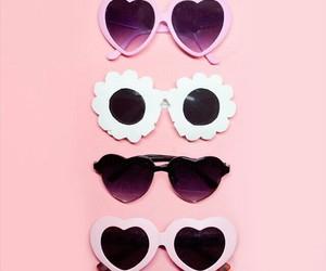 pink, fashion, and sunglasses image