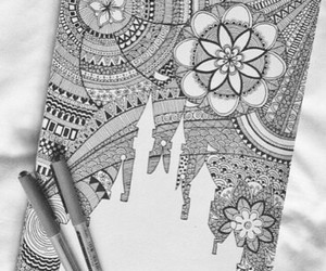beauty, zentangle, and black and white image