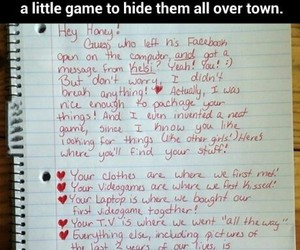 cheating, funny, and revenge image