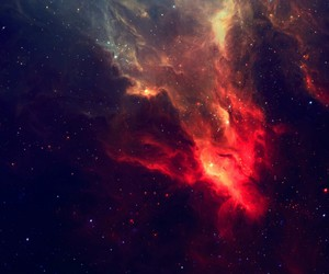 black, galaxy, and red image