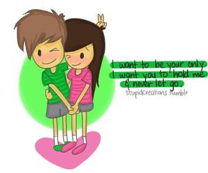 love, cute, and cartoon image