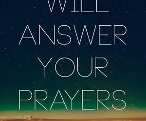 god, prayer, and answer image