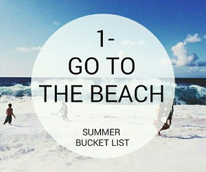 beach, summer, and summer bucket list image