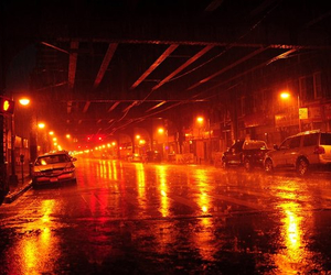 streetlights, in the night, and underground image