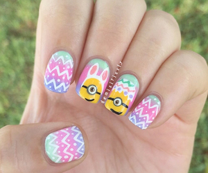 minions, nails, and easter image