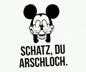schatz, arschloch, and weekend image