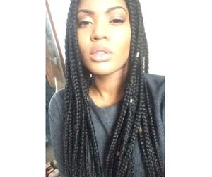 black girl, braids, and brown image