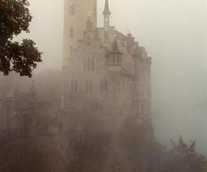 castle, fog, and architecture image