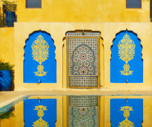 morocco, yellow, and blue image