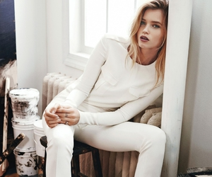 white and model image