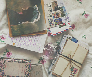 vintage, letters, and photography image