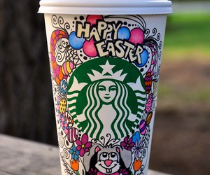 starbucks, coffee, and easter image