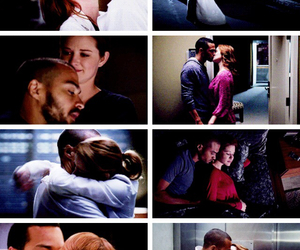 couple, april kepner, and love image