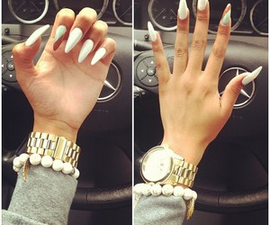 nails, watch, and white image