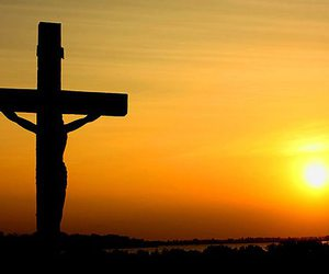 atardecer, cross, and crucifixion image