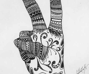peace and zentangle image
