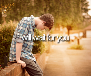 boy, love, and wait image