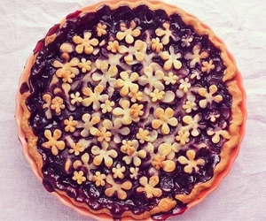 flower, pie, and food image