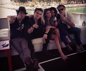 Nina Dobrev, paul wesley, and ian somerhalder image