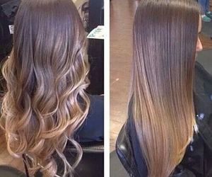blond, long, and brown image