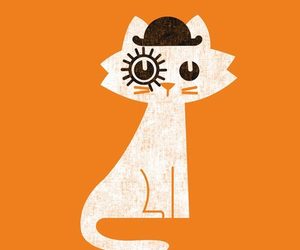 cat, clockwork orange, and orange image