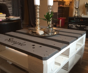 diy, pallet, and table image