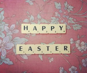 easter, happy easter, and flowers image