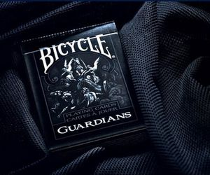 bicycle, black, and cards image