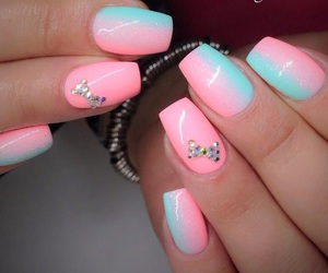 girly, neon, and ombre image