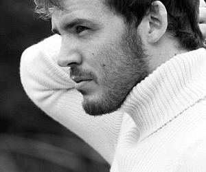 sam claflin, black and white, and sexy image