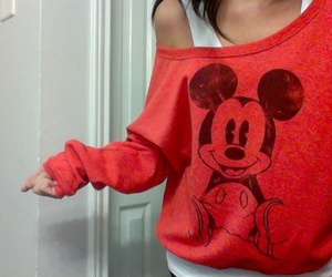 mickey mouse, red, and mickey image