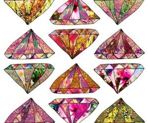 diamond, art, and flowers image