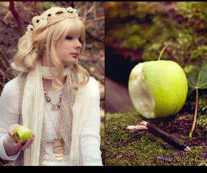 apple, blonde, and fairy tale image