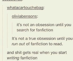 fandom, funny, and obsession image