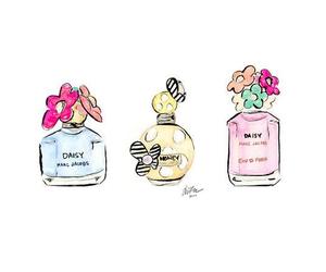 perfume, art, and daisy image
