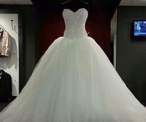 fashion, wedding dress, and love image