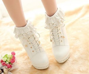 shoe, style, and white image