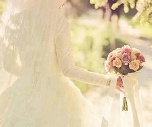 bride, muslim, and wedding image