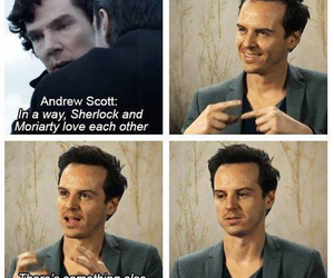 andrew scott, sherlock, and moriarty image
