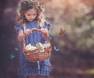 butterfly and kids image