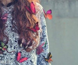 butterfly, girl, and vogue image