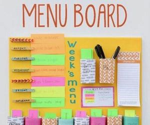 diy, menu, and board image