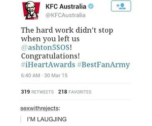 KFC, 5 seconds of summer, and 5sos image