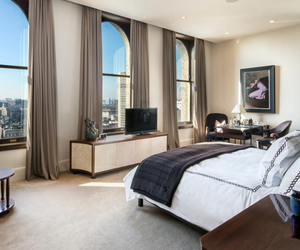 apartment, bedroom, and new york image