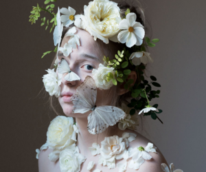 fashion, floral, and photography image