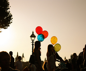 ballons, girls, and them image